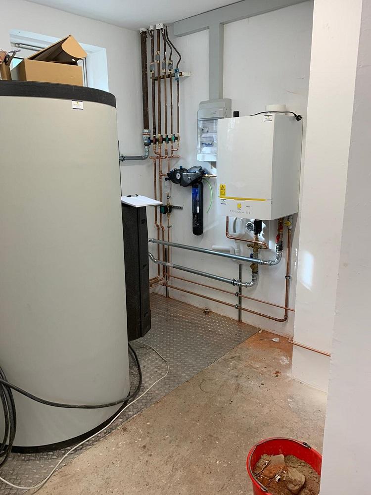 Gas Therme angeschlossen