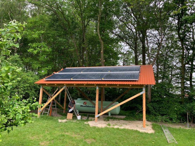 Solarthermie auf Pferdestall
